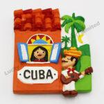 Polyresin CUBA Music Magnet