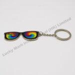 Tie Dye Zinc Alloy Glasses Keychain (Customer Design)