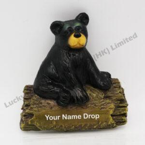 Polyresin Sit Black Bear Magnet