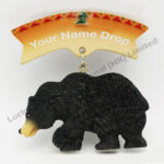 Polyresin Black Bear Tag Magnet