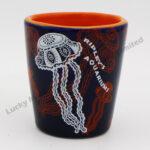 Stoneware Jellyfish Embossed Design Shot Cup