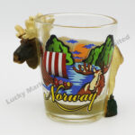 Polyresin Moose Norway Shot Glass