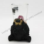 Polyresin Black Bear Open Mouth Shot Glass