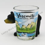 Polyresin Black Bear Yosemite Shot Glass