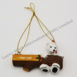 Polyresin X'mas Polar Bear Ornament