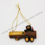 Polyresin X'mas Black Bear Ornament