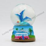 Polyresin 45mm Snow Globe Florida Dolphins