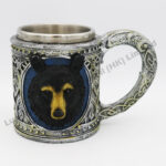 Black Bear Polyresin Stainless Steel Mug