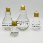 Glass Light Bulb Bottle Set