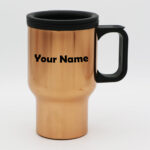 Rose Gold Plastic Travel Mug