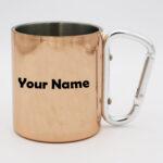 Stainless Steel Rose Gold Carabiner Mug