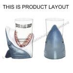 Polyresin Shark Open Mouth Shot Glass