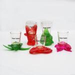 Color Polyresin Animals Shot Glass