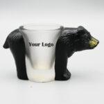 Black Bear Shaped Shot Glass