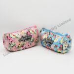 Flowers Cotton Cosmetic Bag (Customer Design)