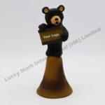 Polyresin Black Bear Dinner Bell