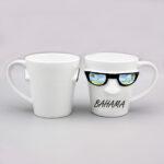 Porcelain Sunglasses Shaped Mug