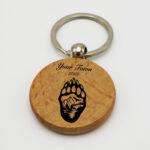 Round Wooden Keychain
