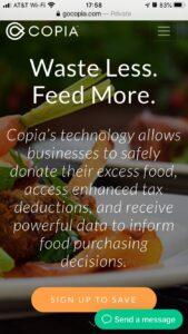 GoCopia.com, Waste Less, Feed More