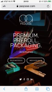 Paqcase.com Child-proof packaging for cannabis and CBD pre-roll