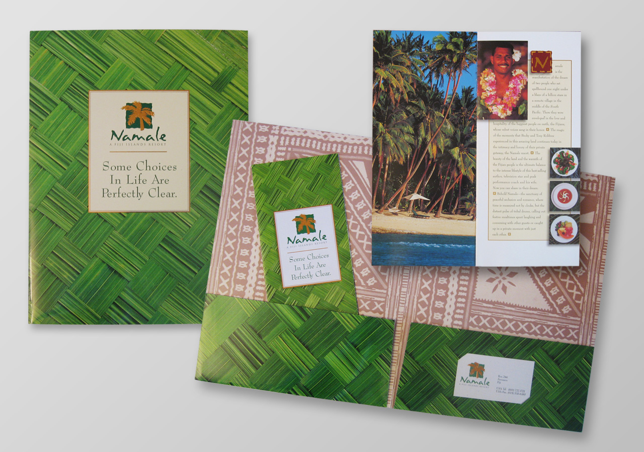 Namale 5-star resort, Fiji   Branding and marketing design