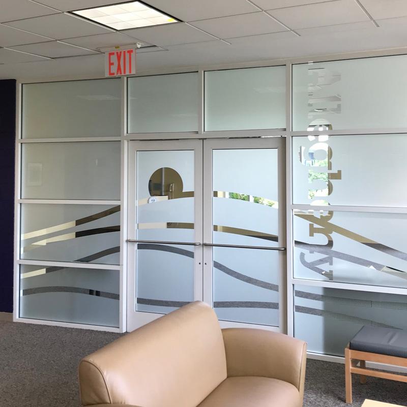Location Identity Window Frosting | Allegheny Room