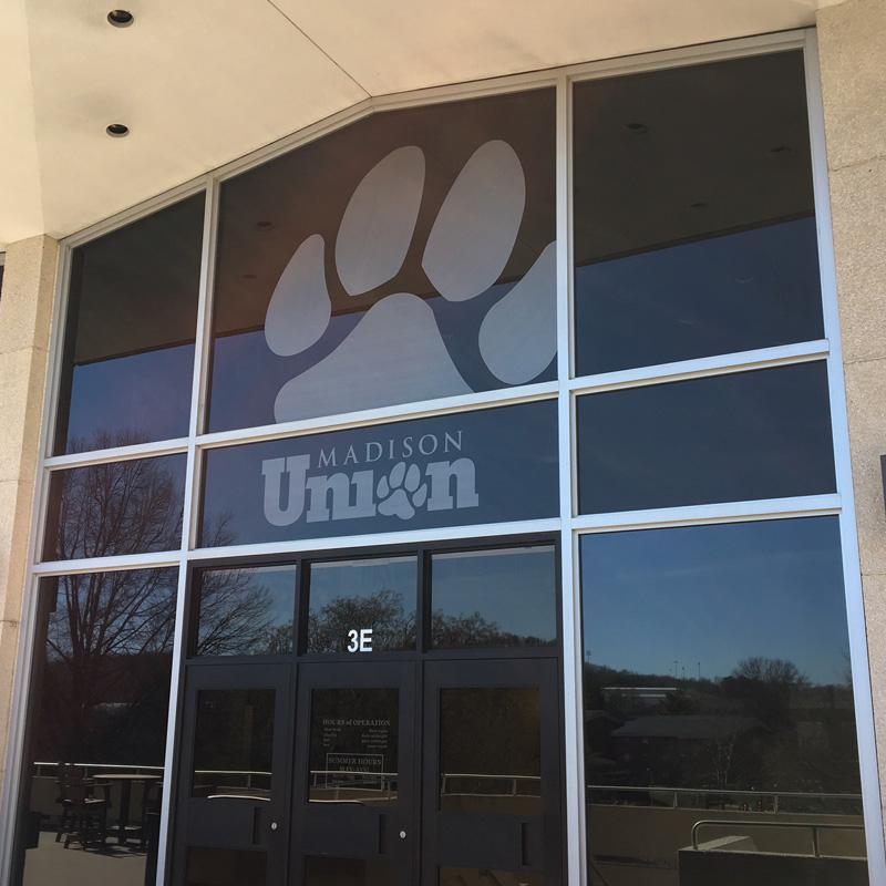 Madison Union doorway and window logos