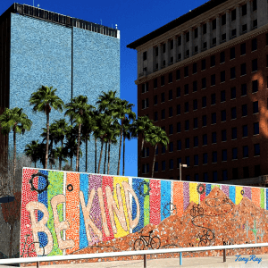 Tucson Mosaic artwork from the BE KIND Project