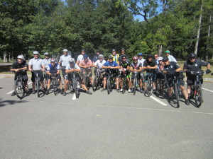 Ocean County police officers about to start the road ride