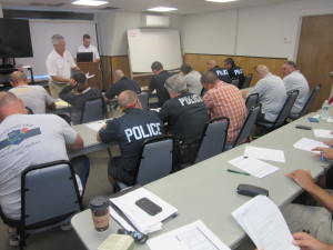 Officers in the classroom session