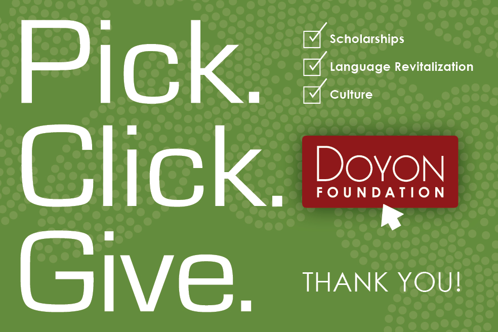 3 Reasons Your Pick. Click. Give. Matters to Doyon Foundation