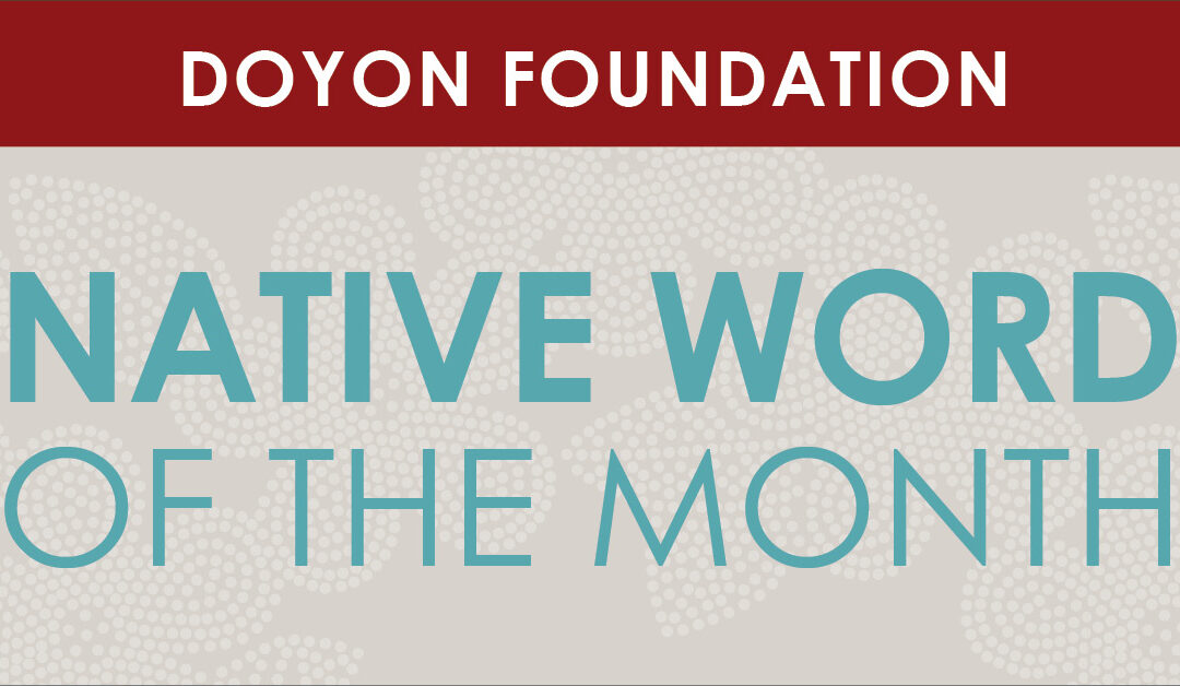 May 2021 Native Word of the Month