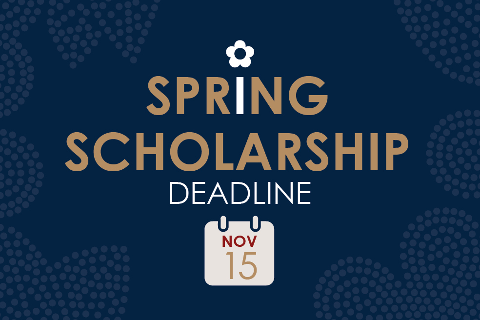 Spring Scholarship Application Period Now Open