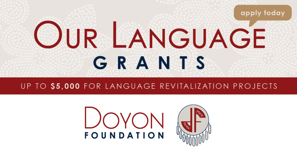 Have an idea for a language revitalization project?