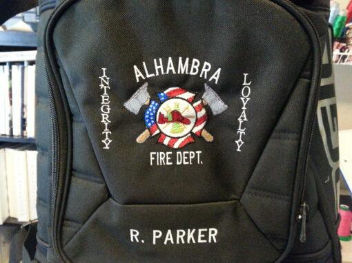 Alhambra Fire Department Custom Bag