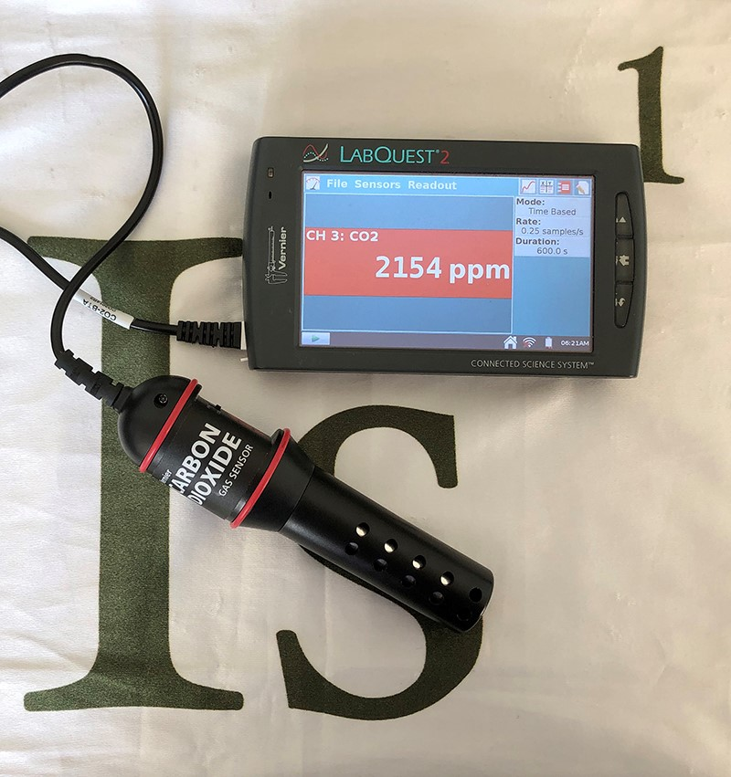 Talking Labquest hooked up to Co2 Sensor