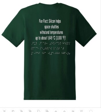 """image of the back of the """"Meet the Elements: Silicon"""" T-shirt"""