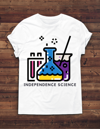 """8-bit science"" t-shirt mock up"
