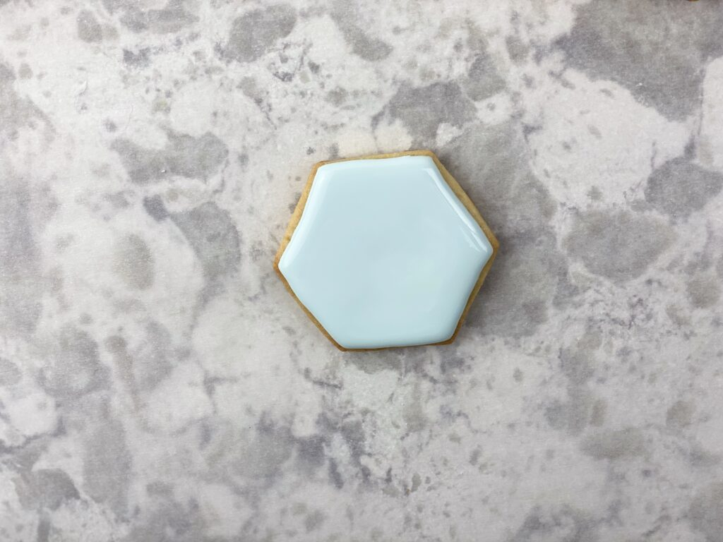 Cookie filled with flood icing