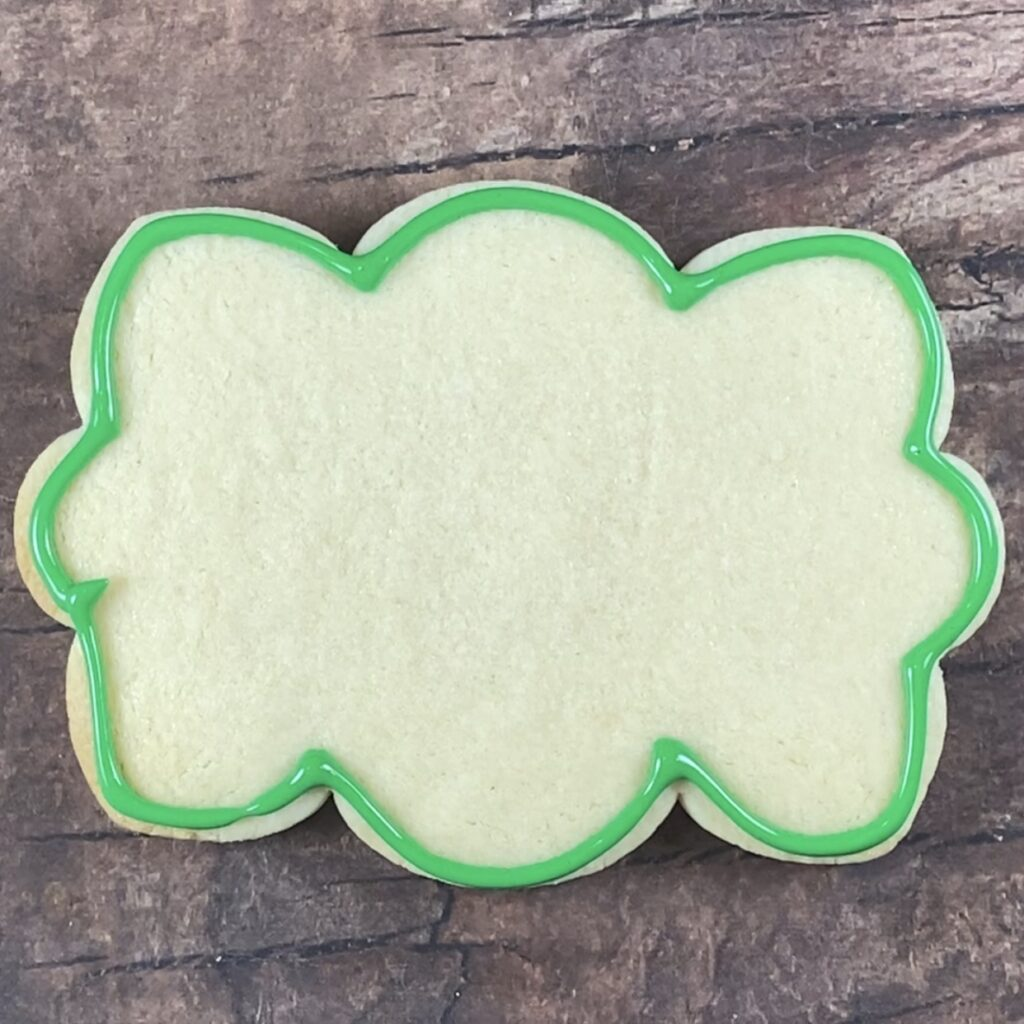 Outline  cookie in green