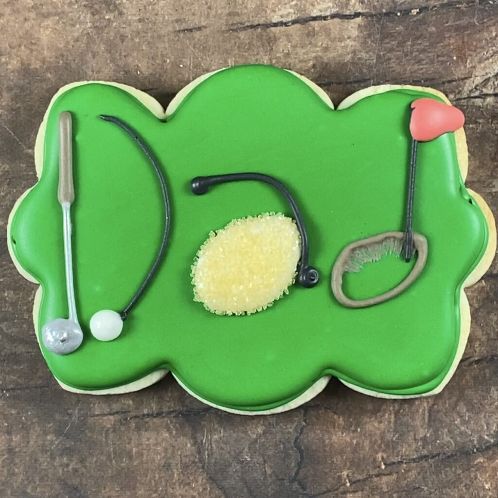 Avid Golfer Personalized Father's Day cookies