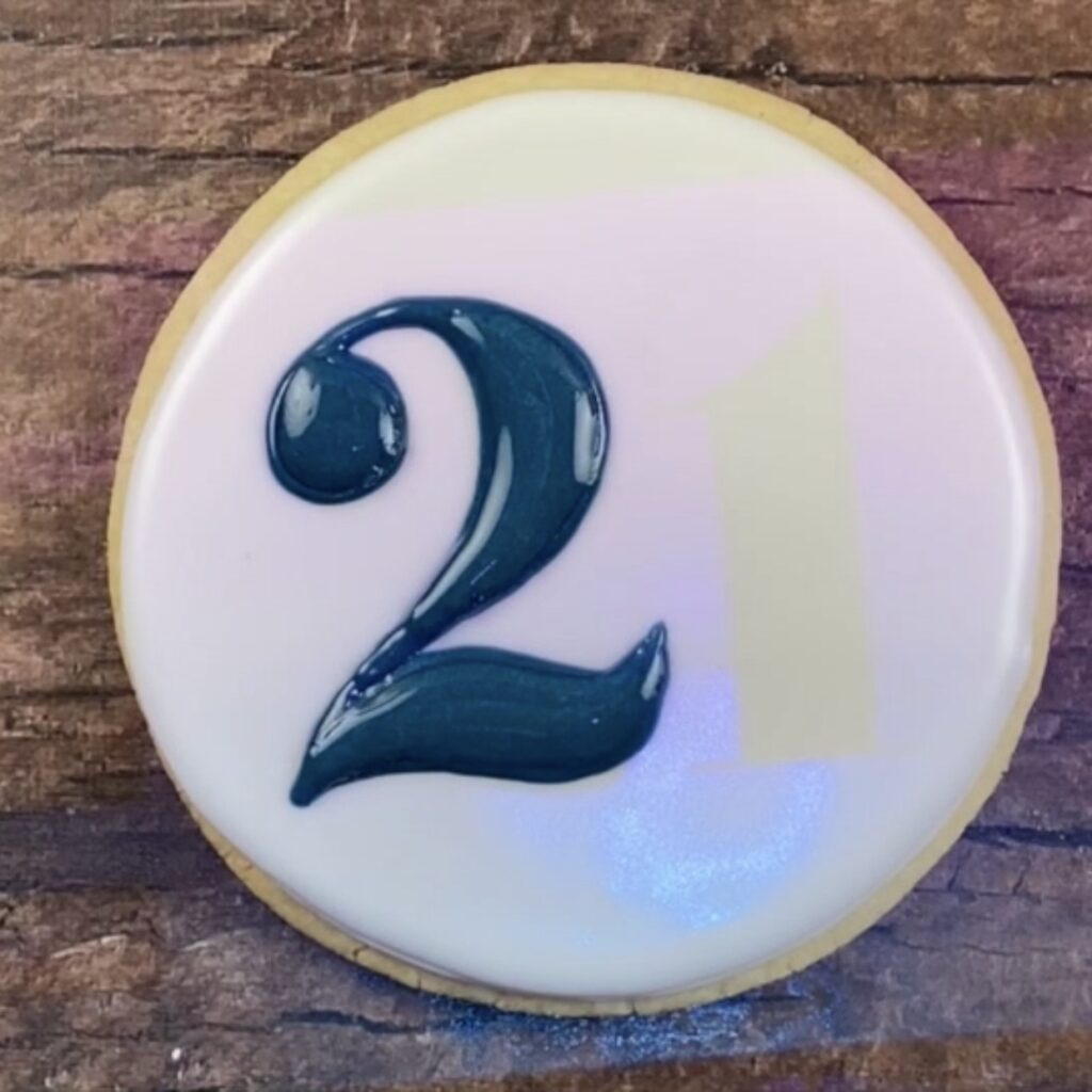 Pipe and outline 2 for 21st Birthday Marine Cookies