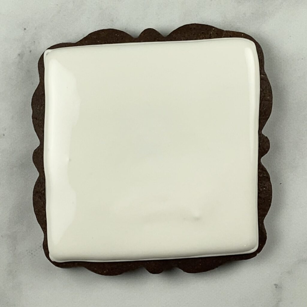 Large plaque cookie filled
