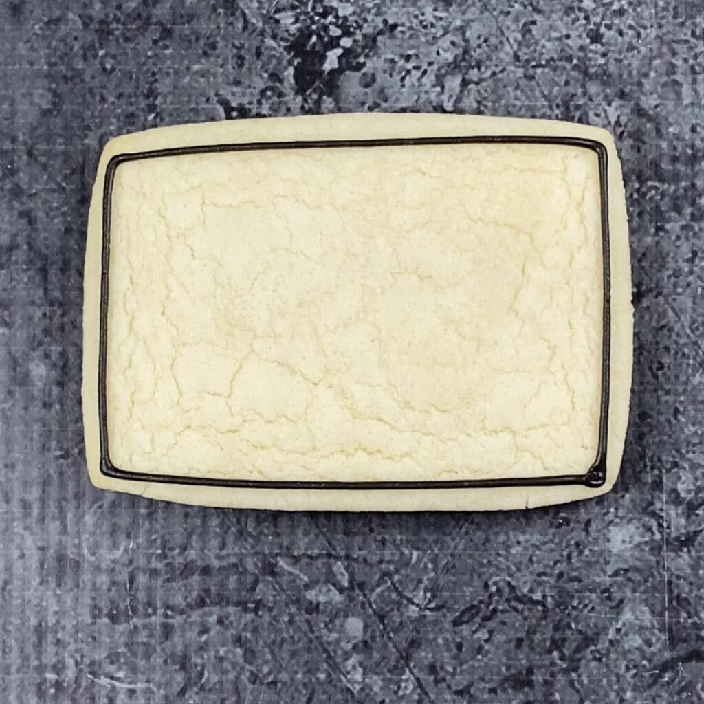 Outline rectangle for Friday Night Lights Cookies