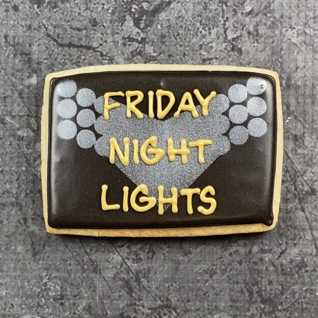 Title cookie for Friday Night Lights Cookies