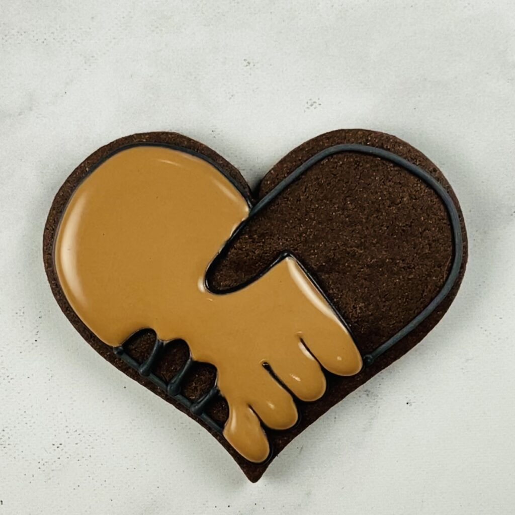 Fill first hand for United by Love Cookies
