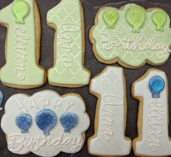 Shimmer Birthday Cookies