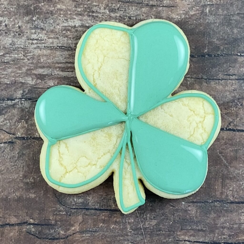 Shamrock for Lucky and I Gnome it cookies