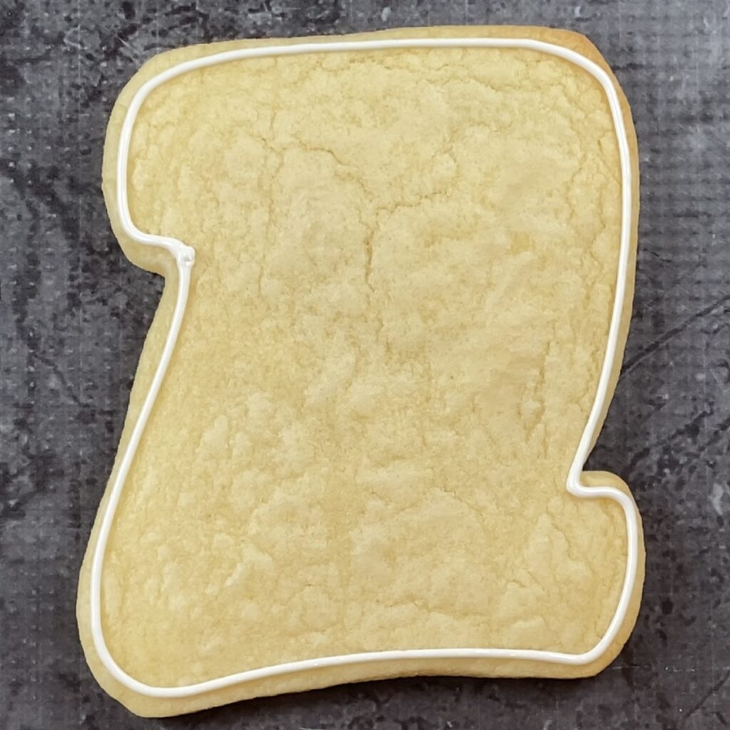 Outline diploma for Congrats 2021 Grad Cookies