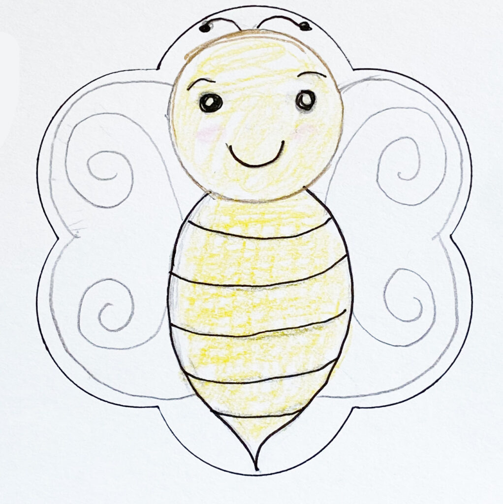 Drawing of bee cookie